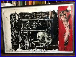 Sam Messer Study After Lenador 1984 enamel on coated paper 23 x 35