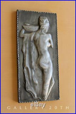 Sensual! German Deco Nude Woman Orig Art! Bauhaus Sculpture MID Century Painting