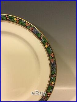 Set Of 11 Vintage Lenox Hand Painted Enamel Fruit Flowers Plates Arts and Crafts