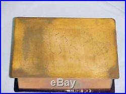 Signed Claire Wyman Modern Enamel Copper Art Box Midcentury Painting Cleveland