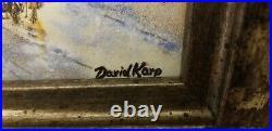 Signed David Karp Parisian Autumn Enamel on Porcelain #114/500