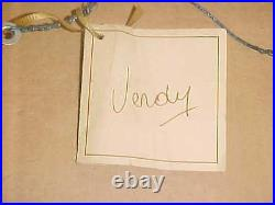 Signed Denyse Verdy Modern Enamel Copper Art Painting Plaque Abstract Canadian