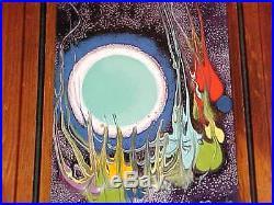 Signed Domingo Block Modern Enamel Copper Art Plaque Midcentury Mexican Painting