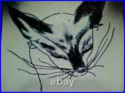 Signed Frank Lee Modern Enamel Copper Art Plate Midcentury Provincetown Painting