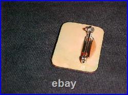 Signed Jack Kinkelaar Modern Enamel Copper Art Brooch Jewelry Fantasy Painting