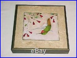 Signed Jean Drumm Modern Enamel Copper Art Plaque Painting California Design Nr