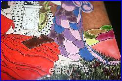 Signed Shokouh Enamel Copper Painting Art Deco Fashion Iribe Barbier Poiret-era