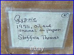 Steffen Thomas Original Painting Gypsie Oil & Enamel on Paper
