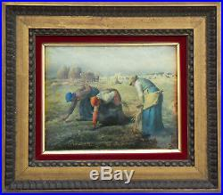 The Gleaners, Miniature on enameled copper plate (according to Millet)
