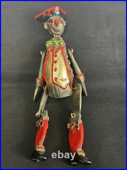 The Museum Company Commedia Dellarte Puppets Silver Plated & Enamel Hand Paint