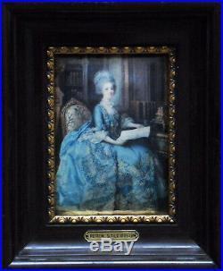 The little queen Miniature on enameled copper plate (from Périn-Salbreux)