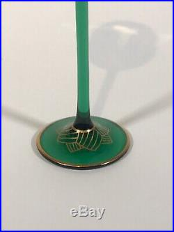 Theresienthal Meyrs Neff Art Nouveau Hand Painted Enamel Cordial Glass C. 1920