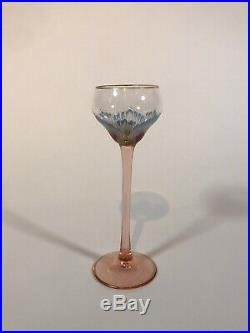 Theresienthal Meyrs Neff Hand Painted Art Nouveau Enamel Cordial Glass C. 1930