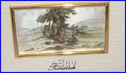 Three Piece Sterling Silver Enamel Estate, Autunno, Primavera Italian Paintings