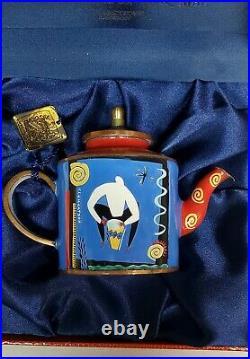 Trade Plus Aid Hand Painted Enameled Teapot in Original Box Charlotte di Vita