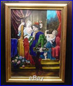 Ultimate 18th Century French Enamel Artist With 2 Models Signed H. Doublet