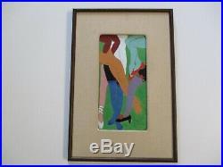 Unique 1970's Enamel On Copper Painting Sculpture Modernism Legs High Heals Pop