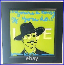 VAL KILMER Artist ORIGINAL Art Signed DOC HOLLIDAY Papa Doc Love California