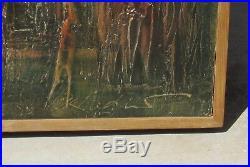 VIKTOR MEDNIS, Australian, Adelaide Cathedral Scene, oil and enamel