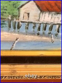 VTG Rare Max Karp Enamel Copper Painting Original Signed Listed Artist