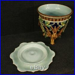 Vase in painted enamelled ceramic cup antique style Art Nouveau 900 French