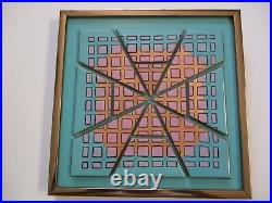 Vintage Abstract Expressionism Painting Modernism Enamel On Copper Sculpture Pop