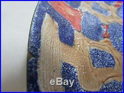 Vintage Australian Studio Art Enamel On Copper Wall Charger Plate Hesling Style