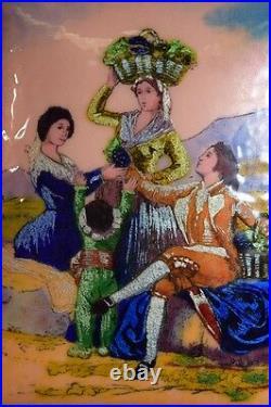 Vintage Copy Enamel on Copper of Francisco Goya Painting