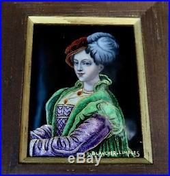 Vintage Early 20th Century Limoges Enamel Painting