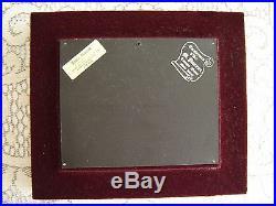 Vintage Enamel over Convex Copper signed by André BUREAU, Limoges, France