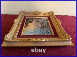 Vintage French Betourne Limoges Enamel on Copper Art Painting J. P. Loup 17/100