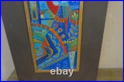 Vintage Iparmuveszeti Vallalat Zsuri Szam enamel Copper Painting Art Hungarian