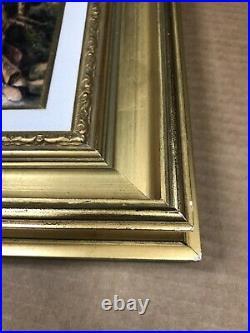 Vintage Limoges enamel over copper framed lovers signed Pierre Bonnet 15X13
