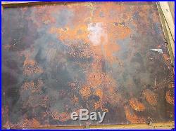 Vintage Signed Max Karp Enamel On Copper Framed Painting 12 X 9