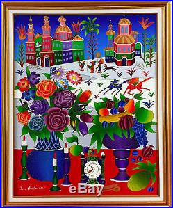Yuri Gorbachev Original Painting, Holiday, Oil on canvas, gold, bronze, enamel