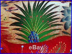 Yuri Gorbachev Original Painting Red Lion oil on canvas, gold, bronze, enamel