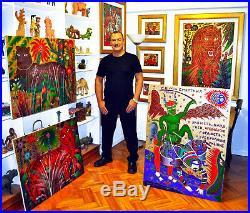 Yuri Gorbachev Original Painting Still life with Rosesoil on canv, gold, enamel