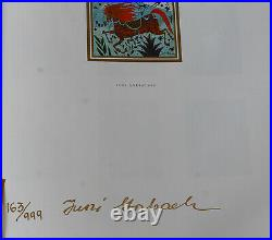 Yuri Gorbachev Original Painting Swans Oil on canvas withgold, enamel & bronze