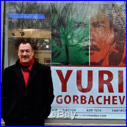 Yuri Gorbachev Original Painting, TIGER, Oil on canvas, gold, bronze, enamel