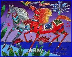 Yuri Gorbachev Original Painting To Horses oil on canv, gold, enamel
